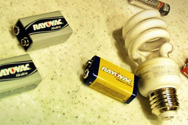Recycle Batteries CFL Bulbs