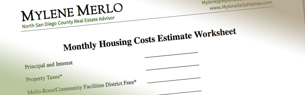 Monthly Housing Costs Estimate Worksheet Download Form